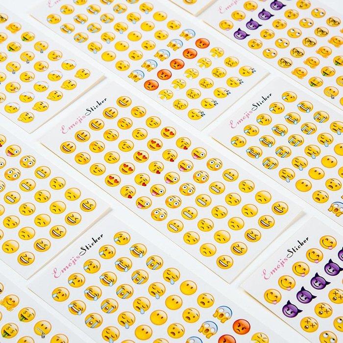 禧禧雜貨店-qq表情貼紙emoji貼紙表情包貼圖貼畫手帳創意大小日記貼新版#便宜出清(3件起購)