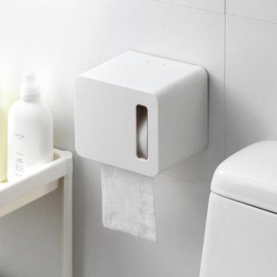 紙巾盒懶角落 壁掛式捲紙巾盒浴室廁所抽紙盒簡約防水免打孔紙巾架66083 免運
