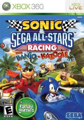 全新未拆 XBOX 360 音速小子 & SEGA 超級巨星大賽車 -英文版- Sonic & Sega Racing