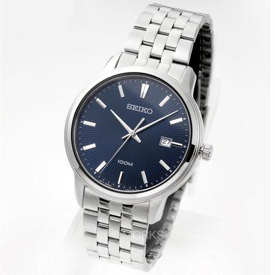 現貨 可自取 SEIKO SUR259P1 精工錶 41mm 藍面盤 放射紋 日期視窗 鋼錶帶 男錶女錶