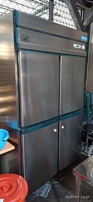 正宗台製 9成9新 用不到3個月 風冷 白鐵上凍下藏四門冰箱220V自動除霜 營業用白鐵冰箱