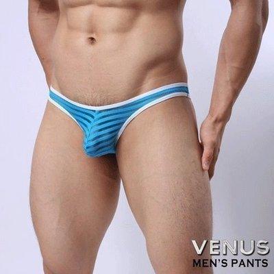 VENUS低腰性感透明囊袋款三角褲藍T048 0K1180000T04