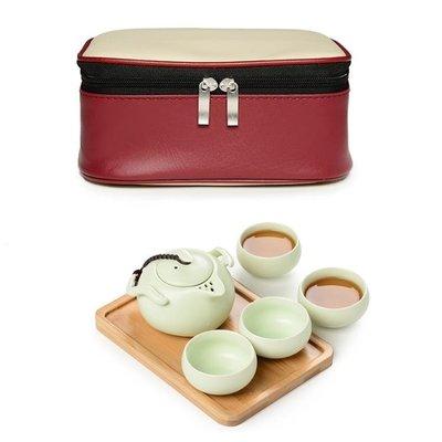 陶瓷功夫旅行茶具戶外隨身便攜式茶壺辦公...