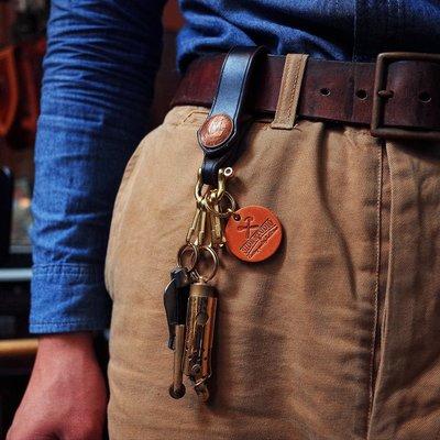 拓荒者革製所。Studio純銅美式復古手工馬蹄扣鑰匙掛鉤阿美咔嘰機車鑰匙掛件美國HORWEEN霍爾文牛皮可掛皮帶鑰匙釦環