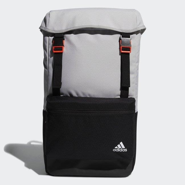 [麥修斯] ADIDAS FLAP BP 後背包 機能 LOGO 白灰 FM6908