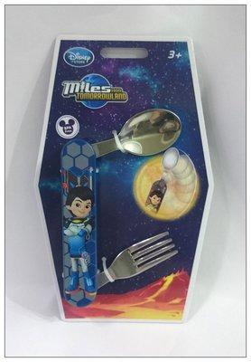 【雍容華貴】 Disney迪士尼官網Miles from Tomorrowland二合一餐具(湯匙.叉子),環保又衛生