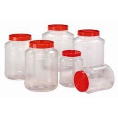 【小丸子生活百貨】PVC塑膠罐 5L透明筒 收納罐 收納桶 零食罐 塑膠桶