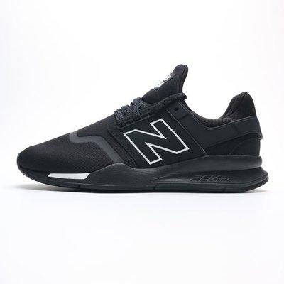 =E.P=NEW BALANCE 黑 白 網布 復古 休閒 慢跑 運動鞋 男女 MS247BE
