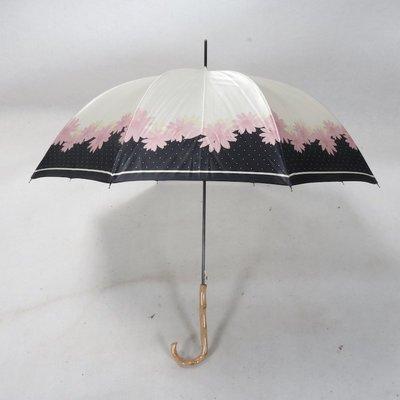 奇奇店-原木傘柄顏色過度很巧妙亮面色丁...