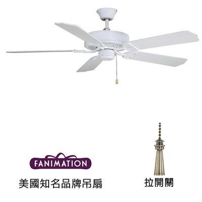 Fanimation Aire D'ecor 52英吋吊扇(BP200MW1)平白色 適用於110V電壓