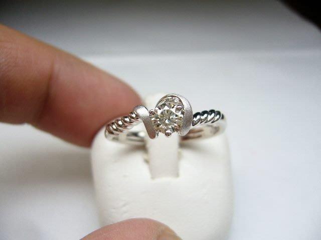 [吉宏精品交流中心]33分 南非天然鑽石 白K金 八心八箭 戒指(母親節禮物)