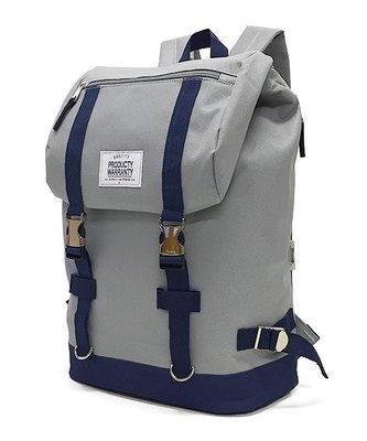 【Mr.Japan】日本限定 PRODUCTY WARRANTY 後背包 雙排扣 側邊拉鍊 包包 包 灰x藍 預購款