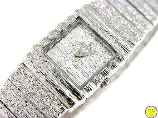 @(六四三精品)@CITY(真品)超美滿天鉑金式手錶..18K白金式錶殼限量款..!!女錶
