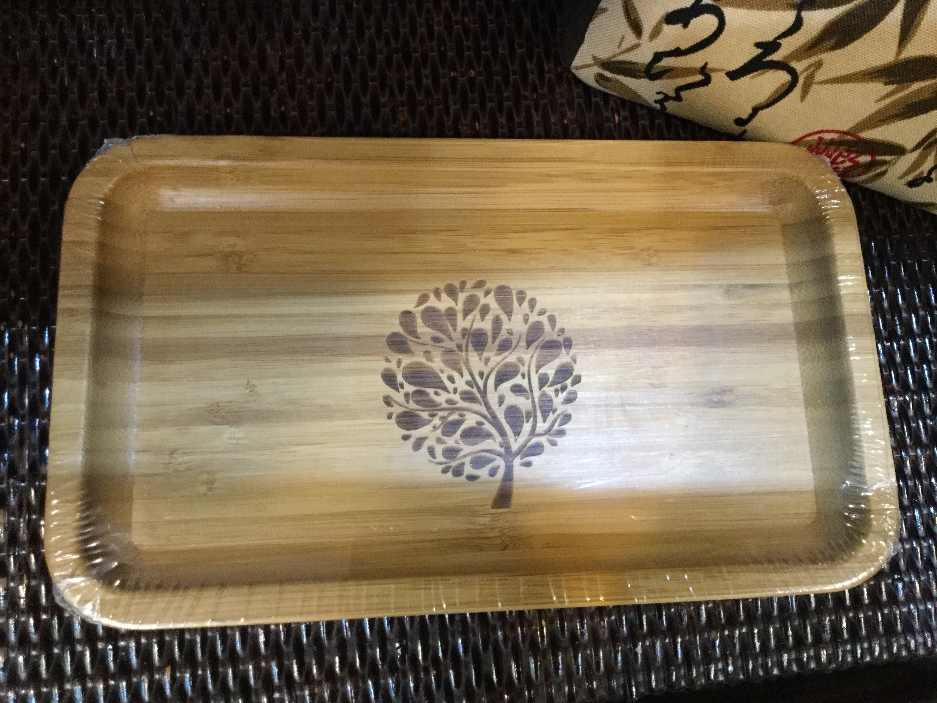 花開富貴-30x20x2cm長方形竹製餐盤,360/個。零售批發,歡迎預購