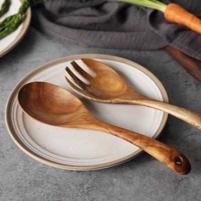 進口 相思木 實木無漆 湯勺 飯勺 沙拉勺子叉子