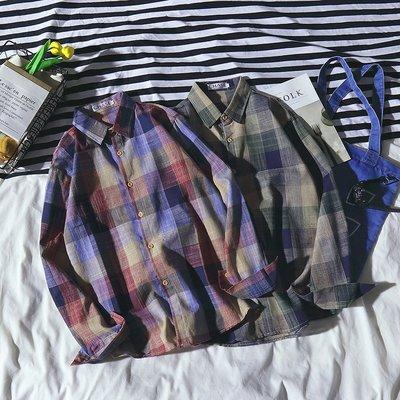 Chita Man + 文藝風尚 棉麻格子 襯衫 兩色