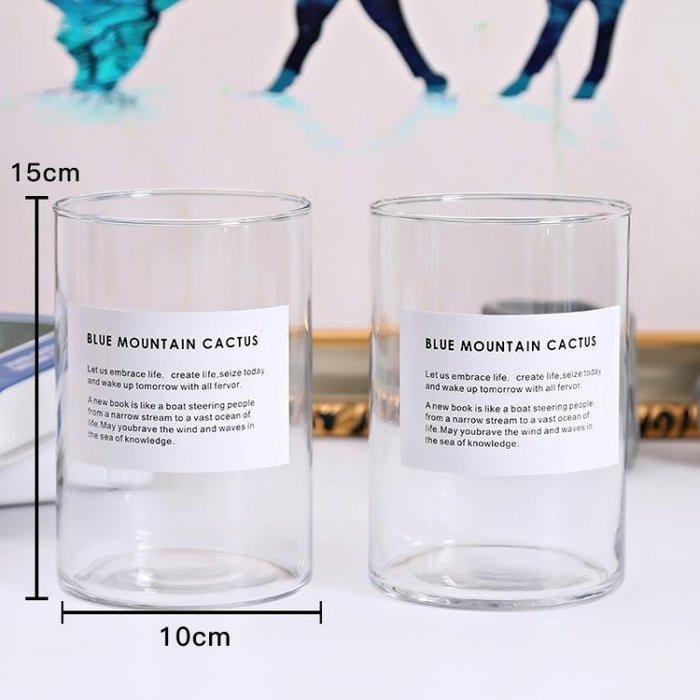 【免運】玻璃水培植物花瓶花盆透明綠蘿富貴竹水養桌面圓柱花瓶器皿容器  【愛購時尚館】