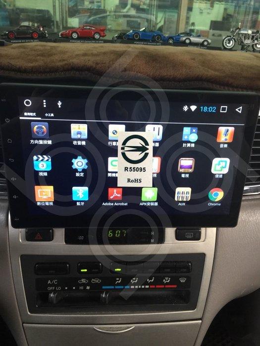 TOYOTA豐田 ALTIS -10吋安卓機.Android.觸控螢幕.usb.導航.網路電視.公司貨保固一年