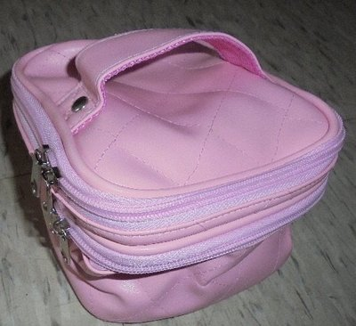 全新時尚手提化妝包--粉紅色