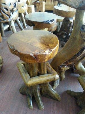 原木吧檯桌椅/奇木桌椅(一桌四椅)唐門柚木家具
