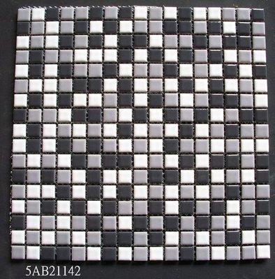 【磁磚之嘉】   1.5*1.5 灰色混搭馬賽克 ◎每才120元