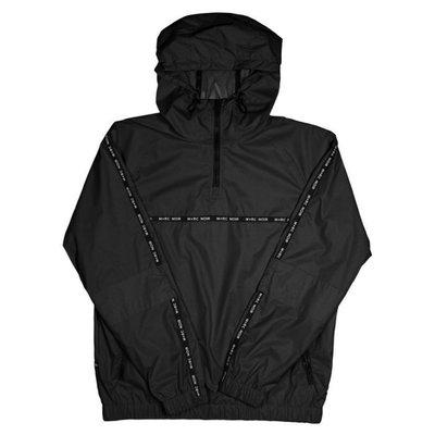 M+RC NOIR Millenium Nylon Track Jacket黑色logo半拉連帽風衣現貨【BoXhit】