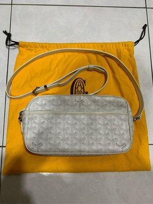 Goyard 白色 相機包 特殊色 斜背 肩背 85成新 現貨