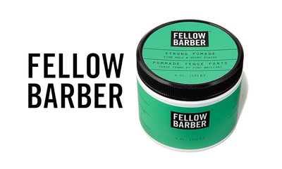 GOODFORIT / 紐約品牌FELLOW BARBER Strong Pomade正裝用強力水性髮油/4OZ