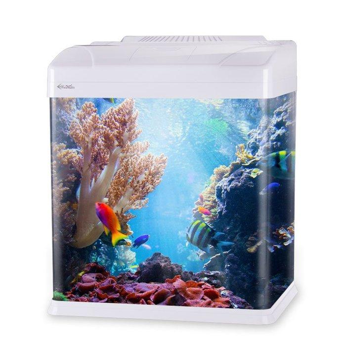 魚缸水族箱小型生態過濾玻璃熱帶魚缸家用金魚客廳桌面烏龜缸造景YS