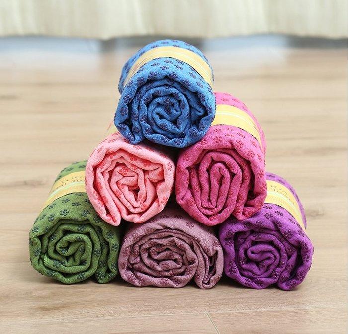 瑜珈墊鋪巾 超細纖維 止滑鋪巾 瑜珈墊 贈收納袋