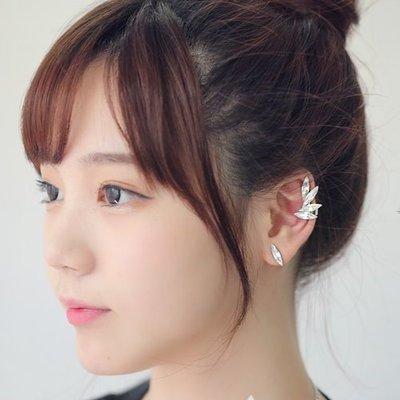 韓國空運 Kill Me Heal Me 變身情人 迷人火花葉子設計耳骨耳夾+耳針耳環 EAR CUFF 3件1組預購