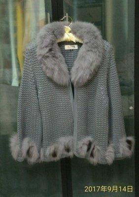 MON'S寵愛針織狐狸毛外套