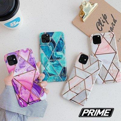 【Prime Shop】蘋果iphone11 pro電鍍拼接大理石XR手機套XS保護軟殼6S綠紫粉色7 8 plus