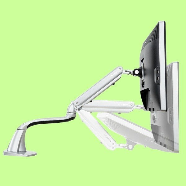 5Cgo【權宇】loctek DLB501 360度 觸控銀幕/顯示器鋁合金支架10~27吋 可任意角度 含稅會員扣5%