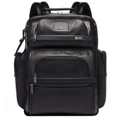 皮藏客 TUMI/途米 JK291 男女款ALPHA3牛皮真皮休閒商務雙肩包大容量旅行15英寸電腦後背包