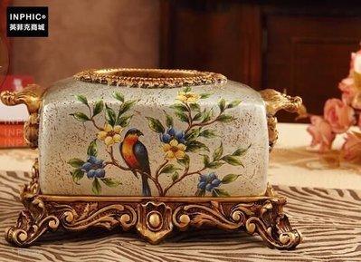 INPHIC-奢華歐式紙巾盒美式復古家居裝飾工藝品創意-C款_S01870C