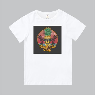 T365 MIT 親子裝 T恤 童裝 情侶裝 標語 話題 口號 美式風格 slogan Beach Club Party