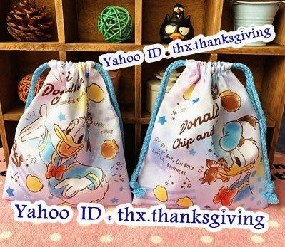 🌟8月8🌟 索繩袋 Donald Duck 唐老鴨 雙面唔同款 卡通 公仔 索袋 Bag 手袋 化妝袋 收納袋