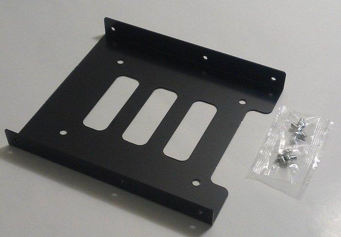 (僅供加購)合金金屬材質 2.5吋轉3.5吋 硬碟轉接架 SSD硬碟架 SSD硬碟支架 筆記型硬碟支架 有附8顆螺絲