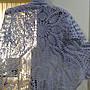 純手工編織短袖長罩衫 成品