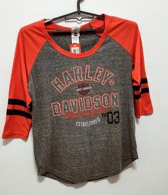**六六挖寶趣** HARLEY DAVIDSON TAIPEI TAIWAN 五分袖 棉T(M)(美國製)(全新)