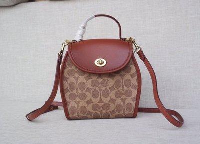 【小怡代購】 全新 COACH M1981-142 美國正品代購最新款 女士後背包 超可愛雙肩包 休閒書包 超低直購