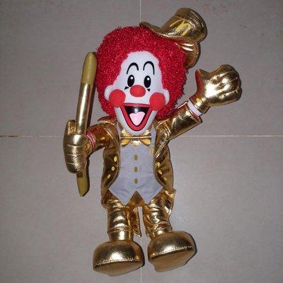 McDonald 麥當勞叔叔 金光閃亮 毛公仔