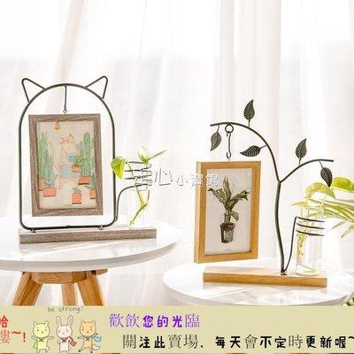 TW-11251655 相框北歐簡約鐵藝相框擺台創意小清新6寸木質相片框   首爾·站