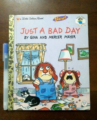 【優質二手硬皮英文書】Just A Bad Day 敦煌書局【a Little Golden Book 彩色故事繪本】
