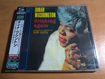 【SHM-CD日版/全新】Dinah Washington 黛娜‧華盛頓 / Drinking Again