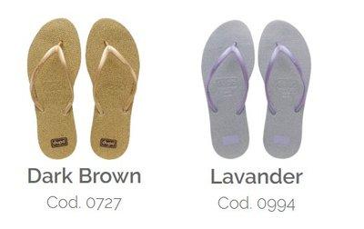 女拖鞋 dupe' Shine 系列 巴西橡膠人字拖/夾腳拖鞋