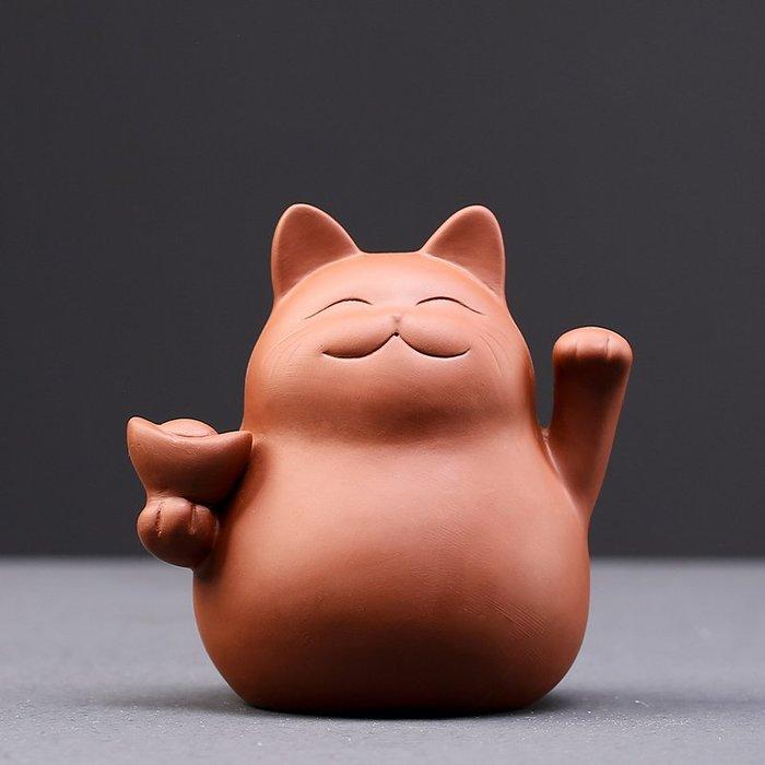 解憂zakka~ 茶寵招財貓茶桌紫砂茶具陶瓷手工茶藝小盆栽茶道玩擺件精品可養#茶寵#擺件