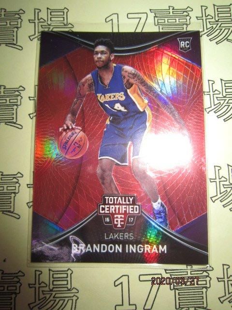 新賣家~16/17~Brandon Ingram /199~RC~TC~紅版~限量/199~60 1元起標
