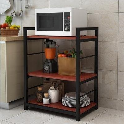 微波爐廚房置物架落地多層省空間烤箱白色...
